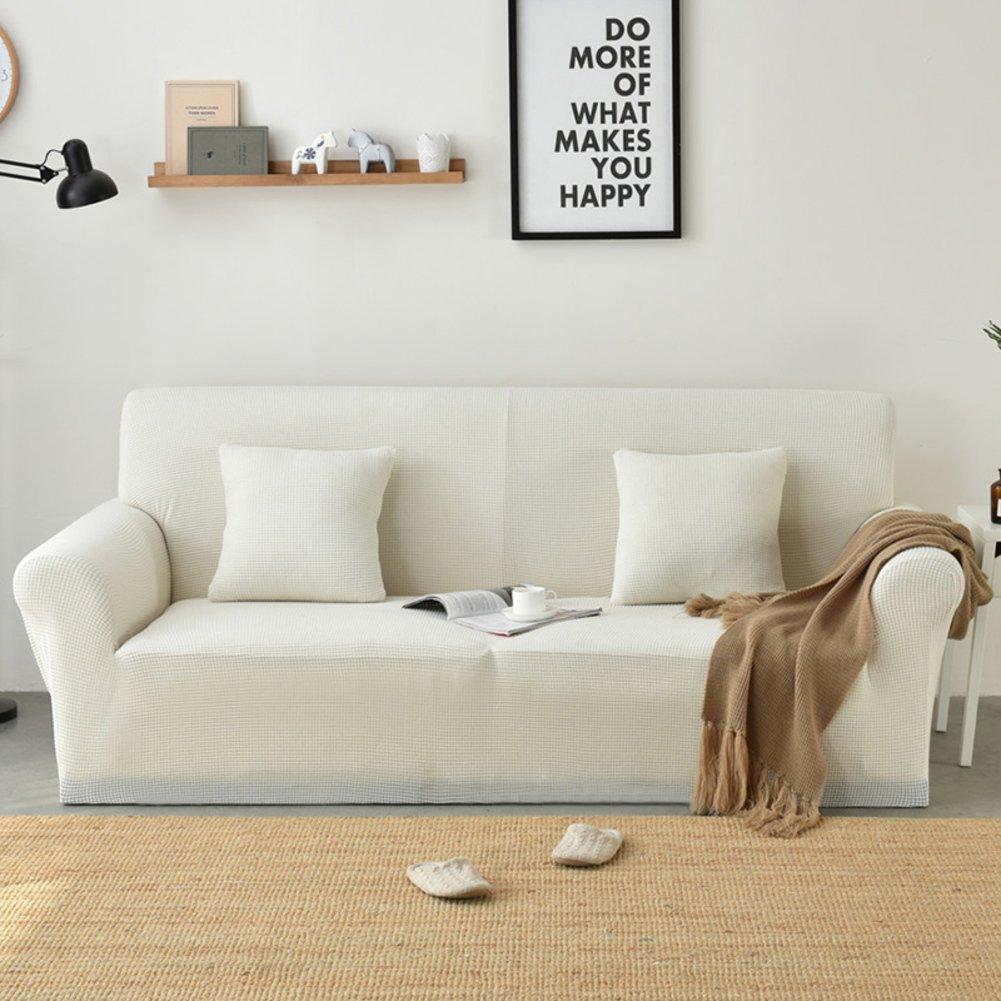 WJX&Likerr Volle Deckung elastische Sofa,Universal Sofa slipcover Kombination Sofa Sofa Sofa Handtuch Couch stoffbezug Polyester Spandex Stricken Sofa beschützer-braun A 2-Sitzer 145-185cm(57-73inch) a18f2b