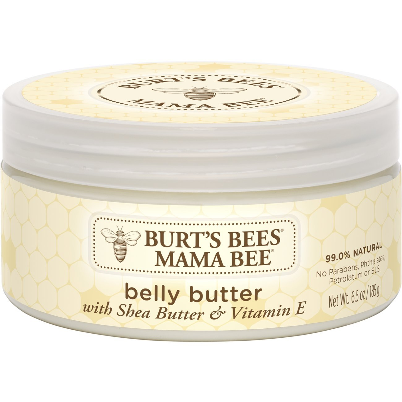 Burt's Bees Mama Bee Belly Butter, Fragrance Free Lotion - 6.5 Ounce Tub