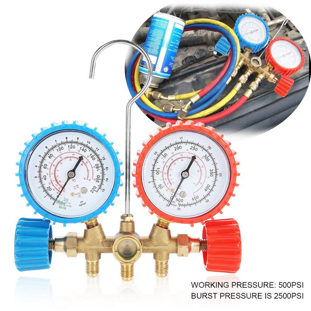 Acouto R12 R22 Refrigeration Air Conditioning AC Diagnostic Manifold Gauge Tool Set