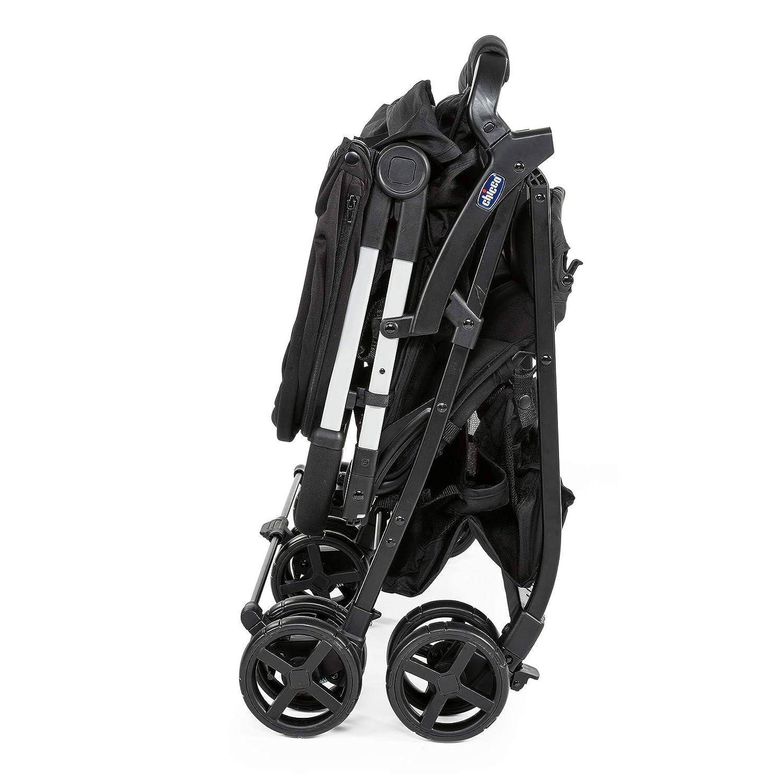 Chicco OHlala Twin solo 8 kg Silla de paseo gemelar muy ligera y compacta color negro Black Night gemelos mellizos o hermanos