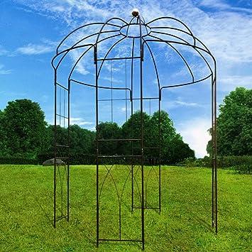 Outour Glorieta de 4 lados en forma de jaula, hecha de hierro, soporte ideal para plantas de escalada y flores: Amazon.es: Jardín