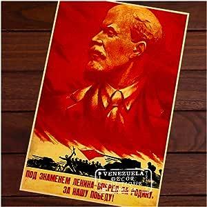 W15Y8 Impresión En Lienzo Rojo Unión Soviética Bandera De