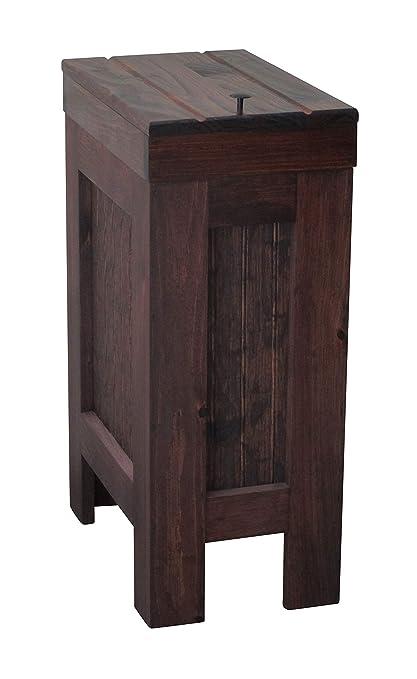 Amazoncom Buffalowood Shop Wooden Wood Trash Bin Kitchen Garbage