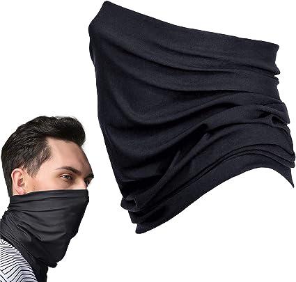 Schlauchschal Halstuch UV Sonnenschutz Schnelltrocknend Atmungsaktiv Weich Gesichtsmaske f/ür Motorrad Laufen Wandern Schwarz SANTOO Multifunktionstuch