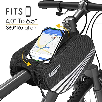 VUP® Bicycle Bike Frame Tube Pannier Bag Mount for iPhone XR XS Max 8 7 6 Plus