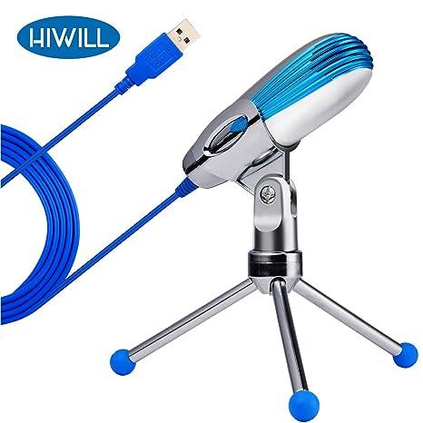 Micrófono de condensador Hiwill de podcast USB para grabar ...