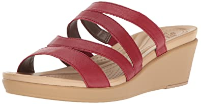 7f78f4e83c Amazon.com   crocs Women's Leighann Mini Lthr Wedge Sandal, Pepper ...
