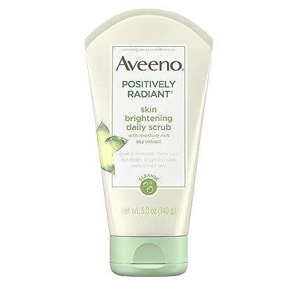 Aveeno Positively Radiant Skin Brightening Daily Facial Scrub, 5 Oz