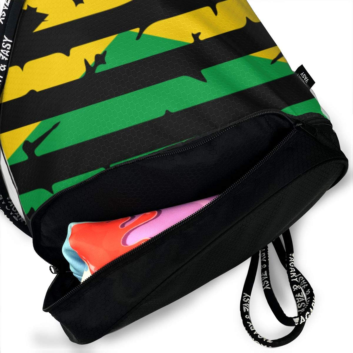 Jamaica American Flag Drawstring Bag Multifunctional String Backpack Custom Cinch Backpack Sport Gym Sack
