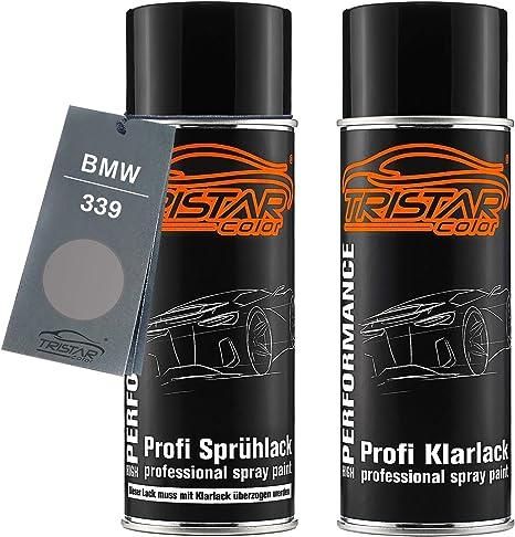 Tristarcolor Autolack Spraydosen Set Für Bmw 339 Aspensilber Metallic Basislack Klarlack Sprühdose 400ml Auto