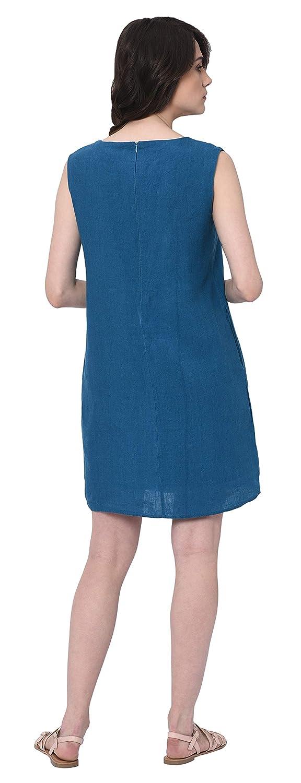 Weiß Reißverschluss Für Taschen Tori´s Blau Damen Mit Etuikleid Oder Sommer Aus Leinen Und Den In cuKl1J3TF