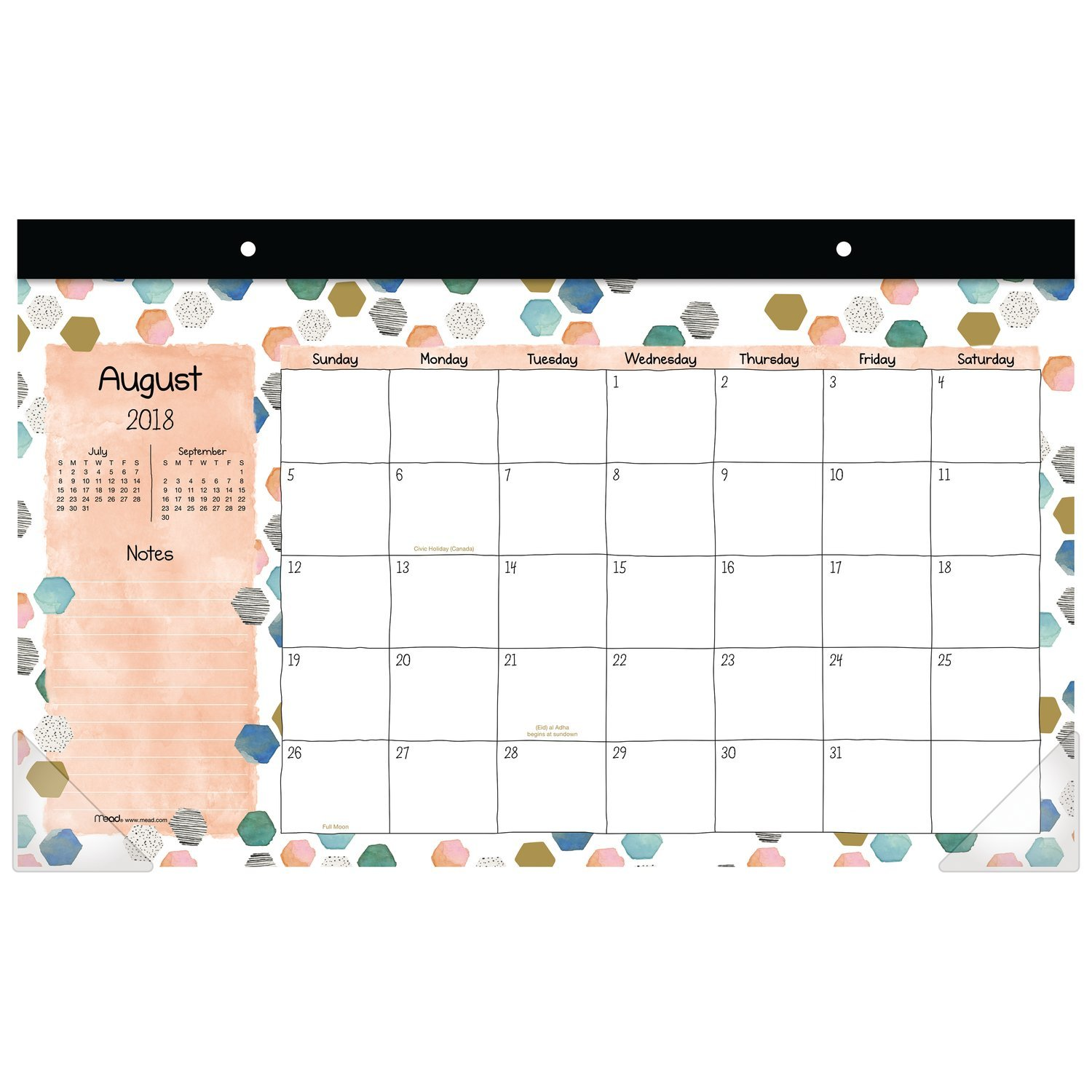 Mead 2018-2019 Academic Year Wall Calendar, Medium, 14-7/8 x 11-7/8, Wirebound, Fashion, Coral Design (CAM20538) ACCO Brands CAM2053819