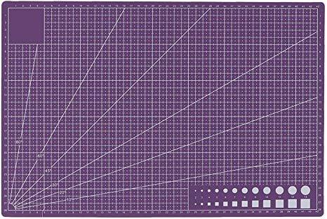 Amazon Com A3 Self Healing Pvc Cutting Mat Double Sided Gridded Lines Rotary Cutting Board For Art Craft Fabric Quilting Sewing Scrapbooking Purple