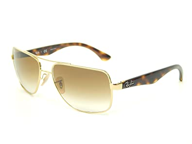 rb3483  Amazon.com: New Ray Ban RB3483 001/51 Arista/Crystal Brown ...