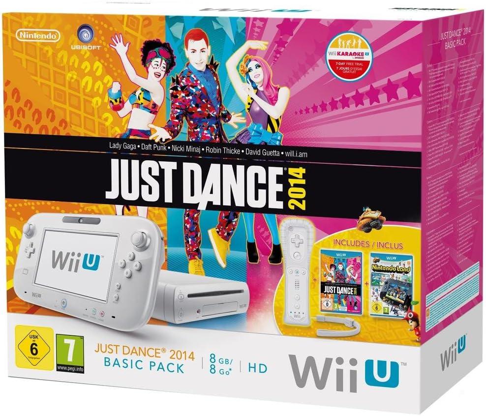 Nintendo Wii U Just Dance 2014 + Nintendoland Premium Pack 8GB - juegos de PC (Wii U, IBM PowerPC, AMD Radeon, 8 GB, 1080i, 1080p, 480i, 480p, 720p, 15,75 cm (6.2