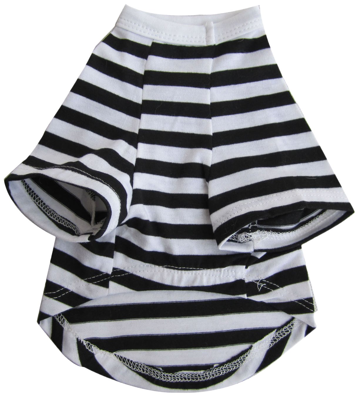 Iconic Pet Pretty Pet Striped Top, Small, Black and White