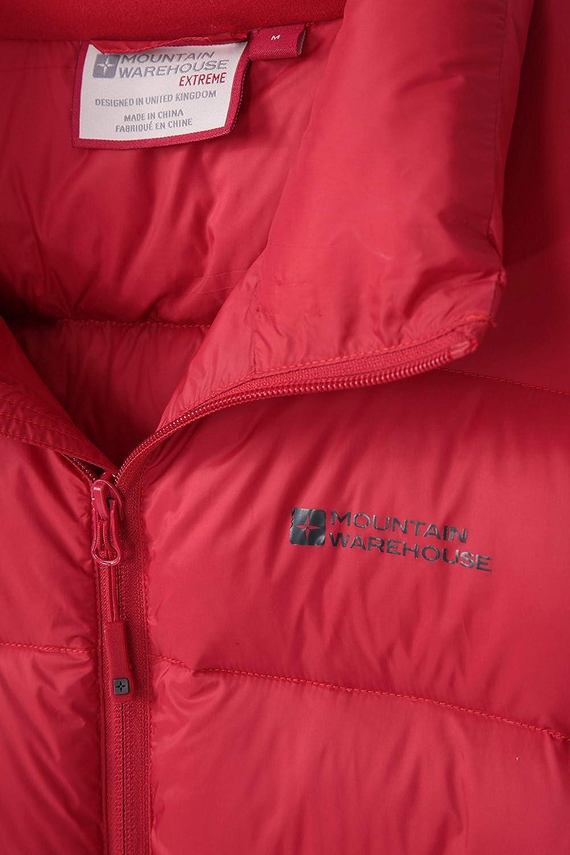 Manteau rembourr/é Mountain Warehouse Doudoune Drift Homme Chaud Ajustable Id/éale pour lhiver Blouson dext/érieur isol/é Le Camping