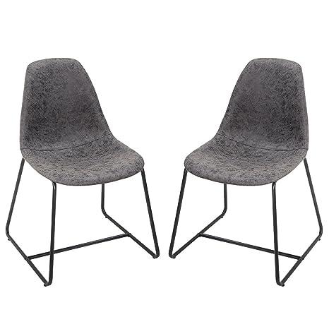 Amazon.com: Harper & Bright Diseños sillas laterales de ...