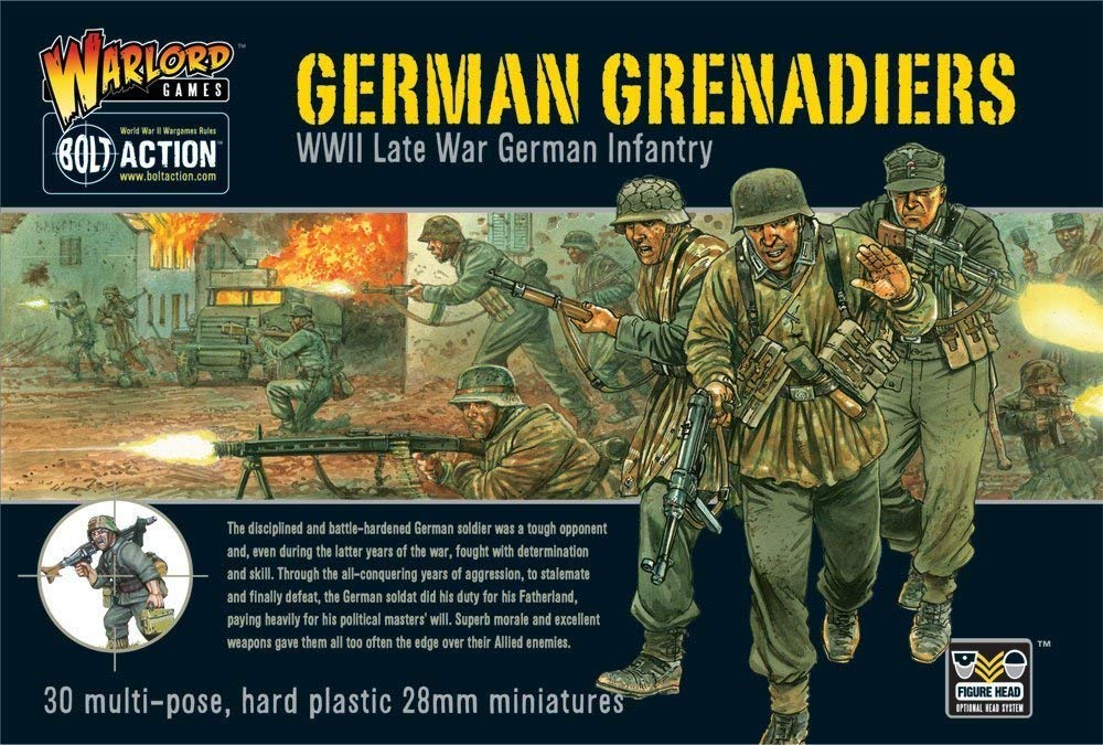 Bolt Action German Grenadiers Late War Infantry 1:56 WWII Military  Wargaming Figures Plastic Model Kit
