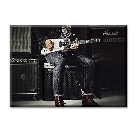 KiarenzaFD Lona Lienzo de Impresion Digital Pintura Marco de la Guitarra electrica del Instrumento de Musica