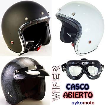 VIPER RS-05 CASCO ABIERTO DELGADO MOTOCICLETA VESPA SCOOTER JET RETRO NUEVO MODELO (S