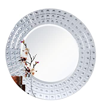 Diameter 45u0026quot; MIRROR TREND Large Mirror Venetian Design Wall Hanging Decorative  Mirrors With Etching Carved