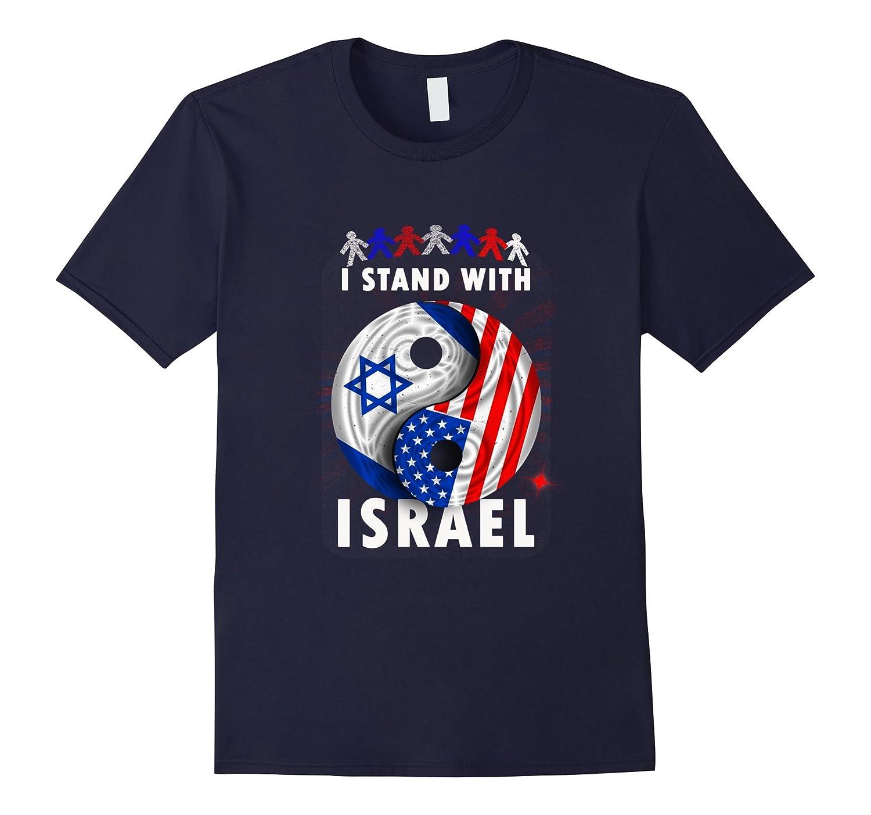I Stand With Israel USA Flag Shirt Vintage Retro T-shirt-Vaci