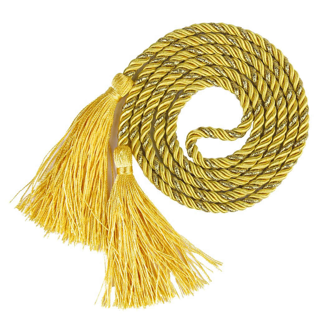 1 Pair of Curtain Tiebacks Tie Backs Tassel Rope Living Room Bedroom Decoration 135CM (Yellow + Golden) Generic BHBA743