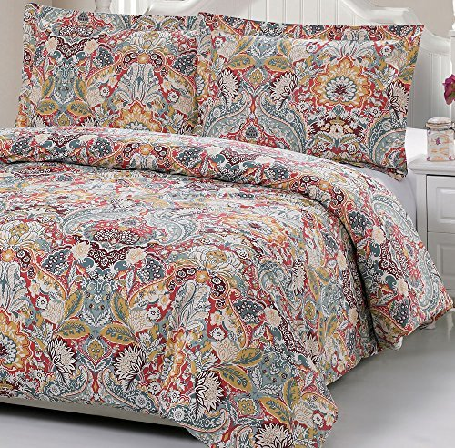 100% Cotton Paisley Pattern Duvet Cover Set Full/queen