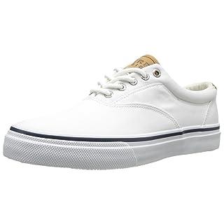 Sperry Men's Salt Washed Striper LL CVO Boat Shoe,White Salt-Washed Twill,9.5 M US