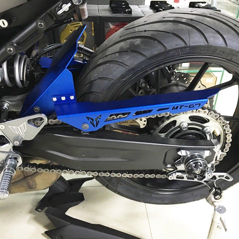 Para 2014-2017 Yamaha FZ-07 MT-07 FZ 07 MT 07 14 15 16 17 Llanta trasera Hugger Fud Guardabarros Guardia de cadena Cubierta Accesorios FZ07 MT07 2014 2015 2016 2017 Blue