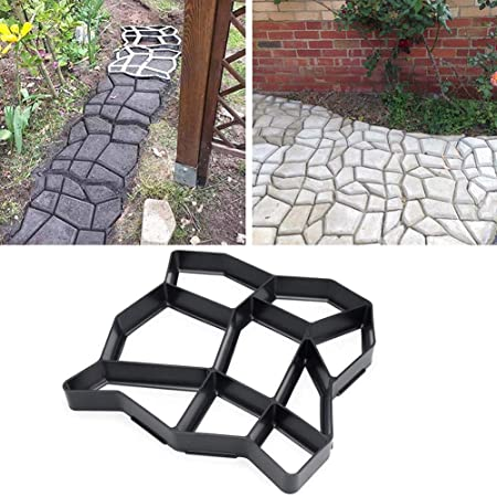 Molde de plástico para hacer caminos de jardín, modelo de pavimento, piedra de hormigón, ladrillo, Plastic mold for making garden path, pavement pattern, concrete stone, brick, (E): Amazon.es: Hogar