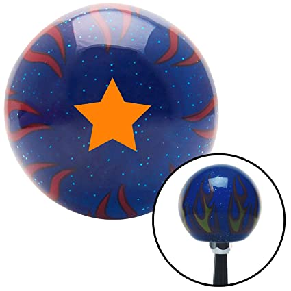 American Shifter 242294 Red Flame Metal Flake Shift Knob with M16 x 1.5 Insert Red Bio Skull