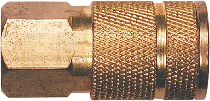 Primefit IC1414FB6 1//4-Inch Industrial 6-Ball Brass Coupler with 1//4-Inch Female NPT