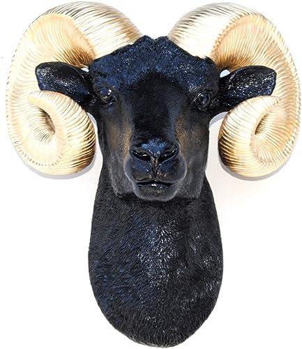 Near and Deer Faux Taxidermy Ram Head