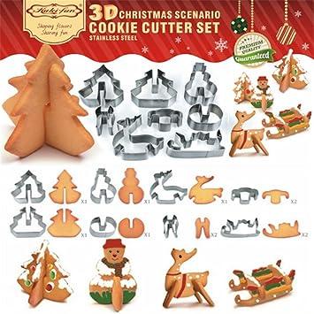 3D Ausstecher Ausstechform 8 glatt Edelstahl Weihnachts Plätzchenform De
