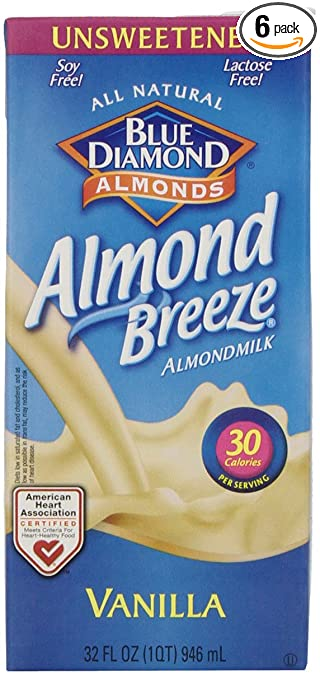 2. Blue Diamond Almond Breeze Unsweetened Vanilla