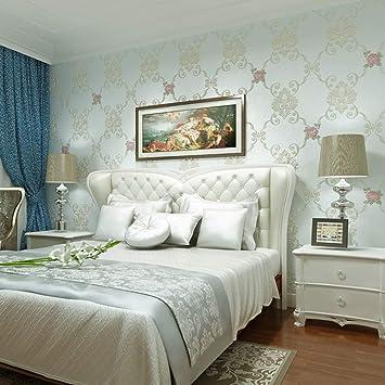 Papier peint fleur de jardin chambre à coucher chaleureuse ...
