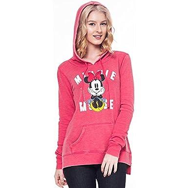 ad5b0b36b3e Disney Mickey   Minnie Mouse Hoodie Juniors Pullover Sweatshirt (Red  Minnie