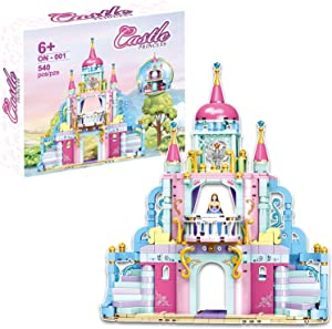 STEM Girls Building Blocks Toys,540 Pcs Princess Castle Friends Sets Toys,Education Construction Building Kit for Kids,Birthday Party Gifts for Girls Age 6-12 and Up