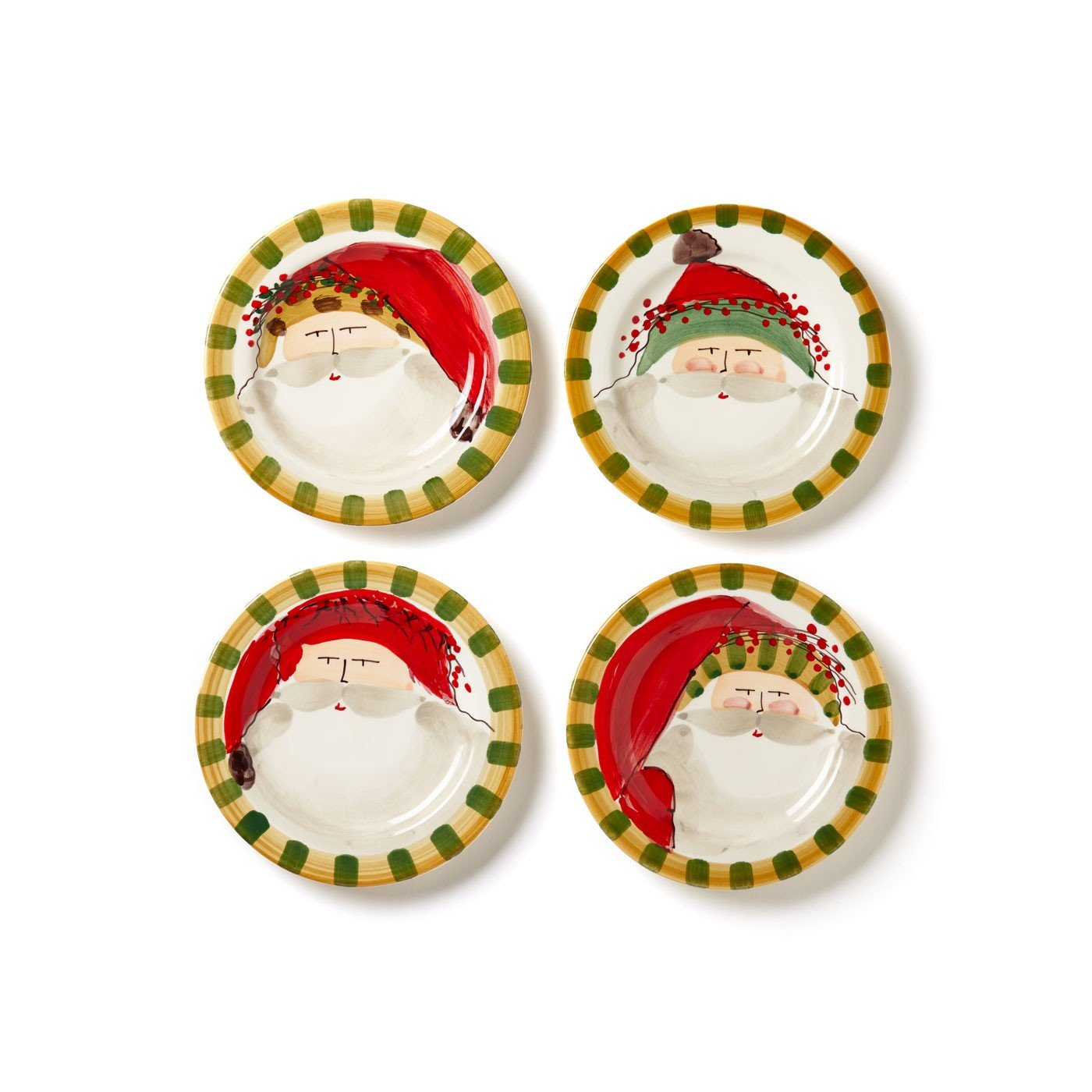 Vietri Old St. Nick Assorted Round Salad Plate - Set of 4