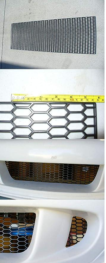 Universal Small ABS Plastic Racing Honeycomb Hex Mesh Grill Hood Bumper BLACK1pc