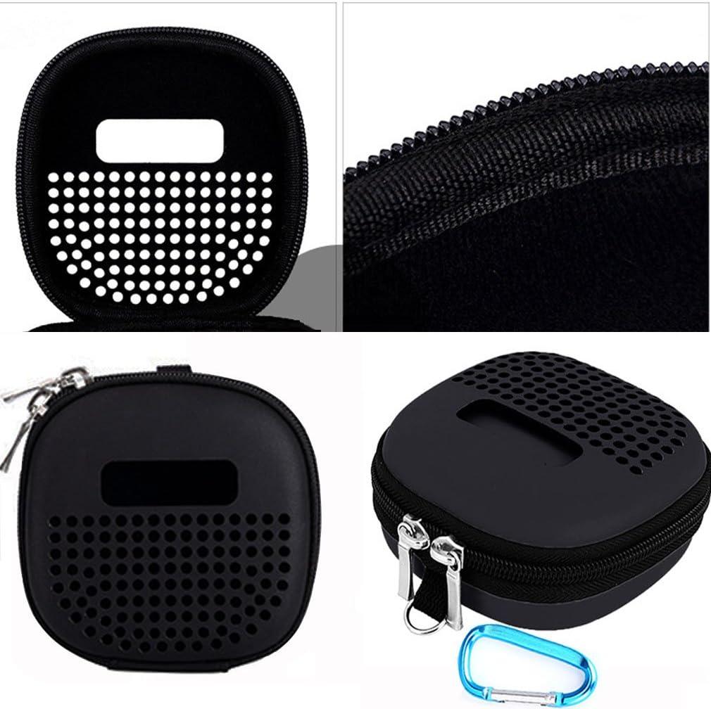 Black Portable Speaker Protective Case for Bose SoundLink Micro Bluetooth Speaker Minchen Portable Hard EVA Case Cover for Speaker with Blue Carabiner