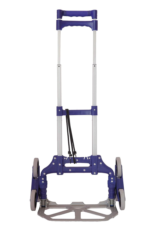 zusammenklappbar f/ür Treppensteiger Sackkarre mit 3 R/ädern zusammenklappbar ausziehbar 100/% Aluminium