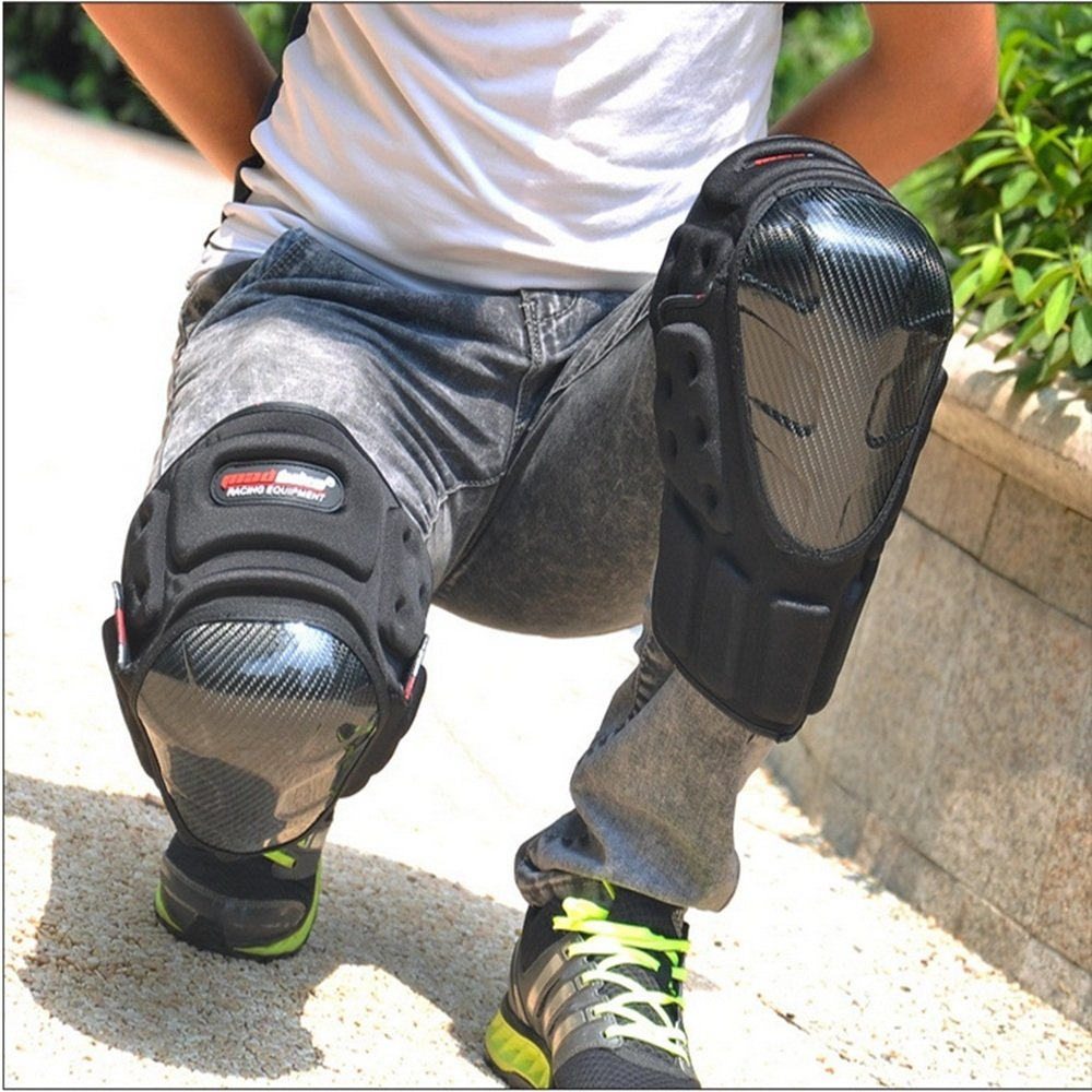 TLMYDD Anti-Fall Knee Pads Leg Protectors Professional Motorcycle Racing Off-Road Vehicle Safety Kneepad by TLMYDD (Image #3)