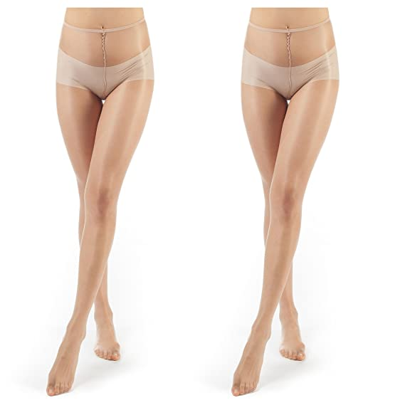 58101c2189c ElsaYX Women s Shiny Glossy Pantyhose Lingerie Tights Without Cotton ...