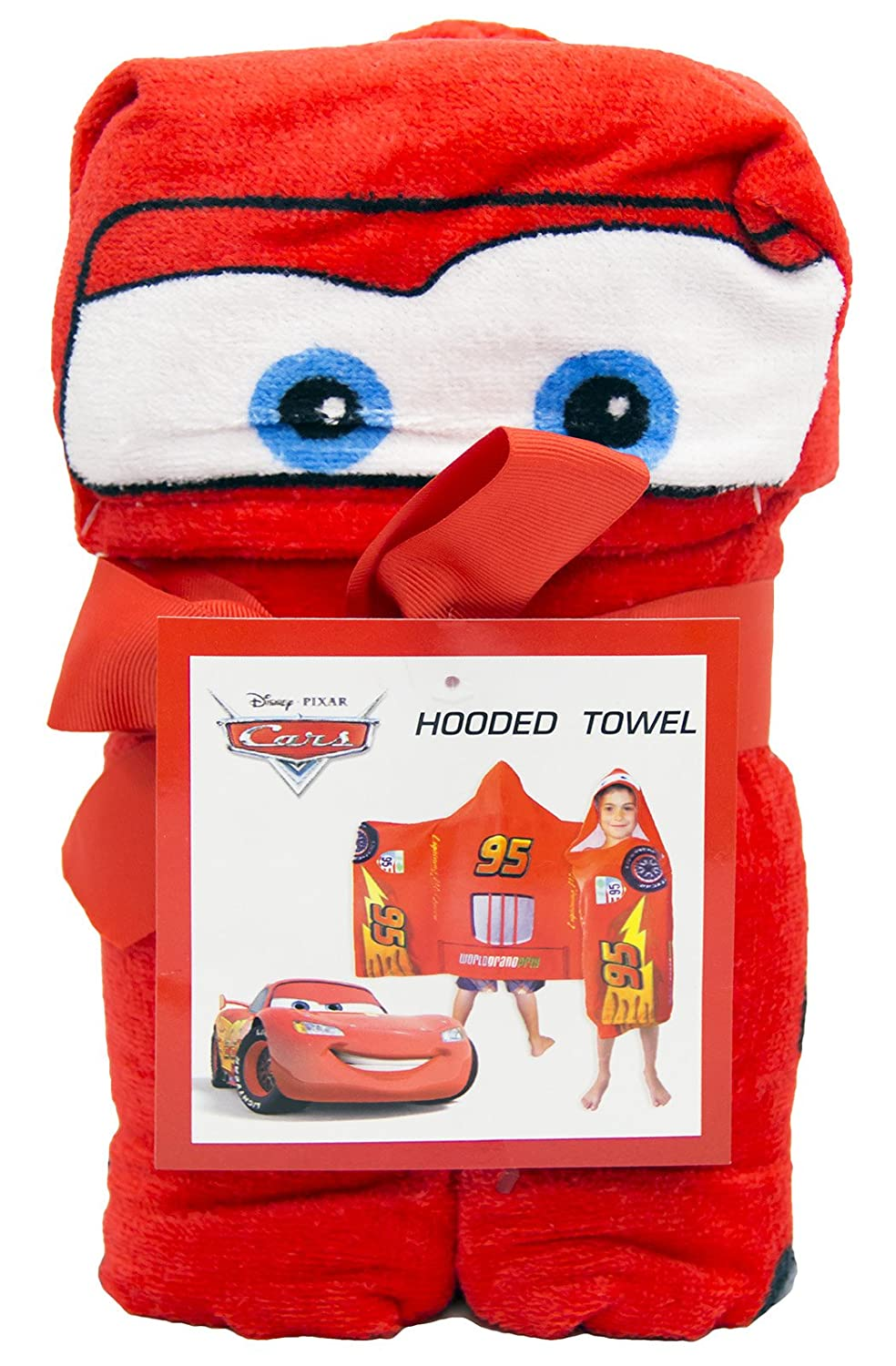 "Amazon.com: Jay Franco Disney/Pixar Cars Tune Up Hooded Cape Towel, 22"" x 51"": Home & Kitchen"