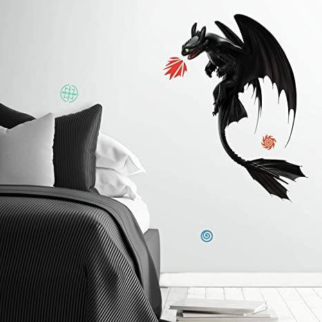 Toothless How to Train Dragon Eyes M Vinyl Sticker Wall Art Poster Car Van Decal