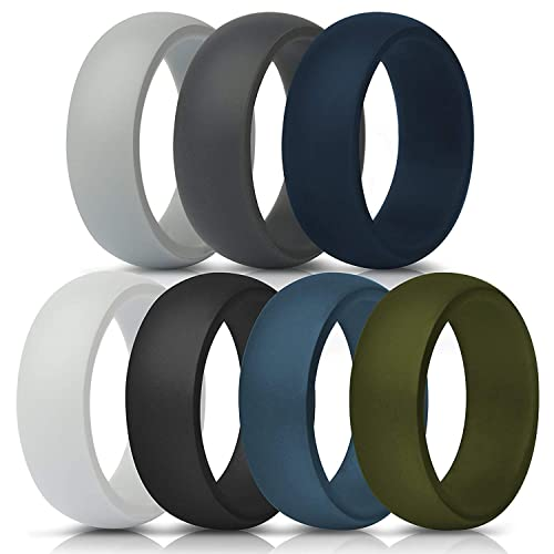 bC BimeTALliC CAble Silicone Rings forMen