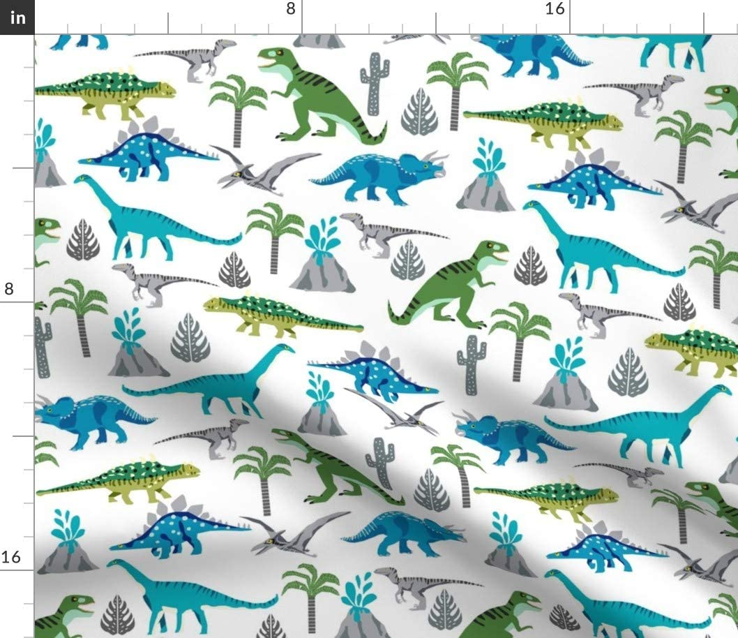 Dinosaurs Roam Cotton Fabric by The Yard 1 Yard Precuts